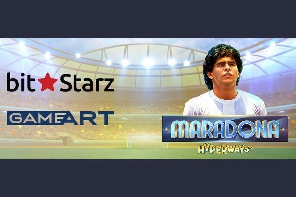 GameArt Gives Exclusivity to Bitstarz for Maradona HyperWays