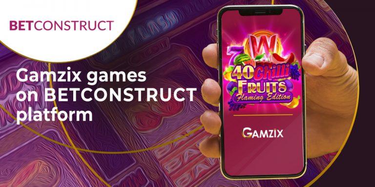 GAMZIX Goes Live via BetConstruct